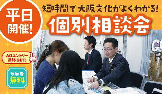 短時間で大阪文化がよくわかる! 個別相談会(お好きな日時をお選びください)